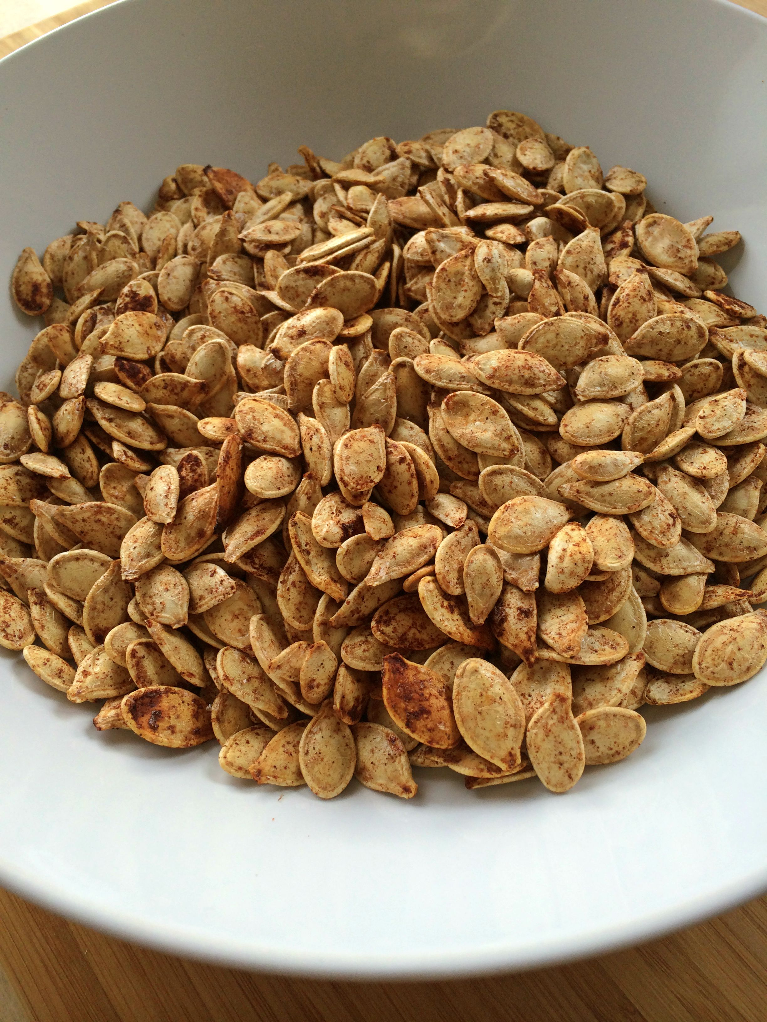 Sweet and Spicy Pumpkin Seeds (gf)