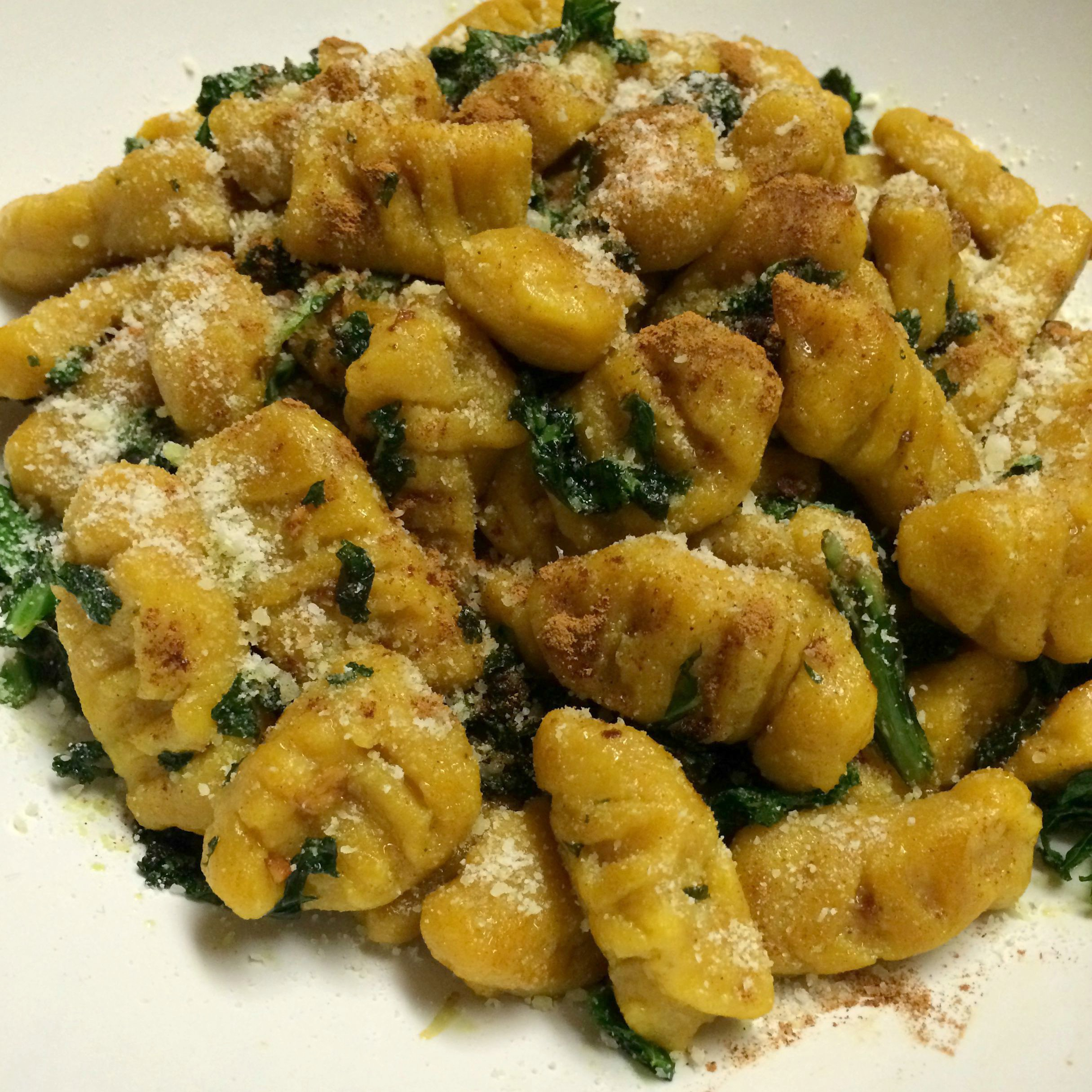 Pumpkin Gnocchi with Brown Butter Sauce and Crispy Kale ...