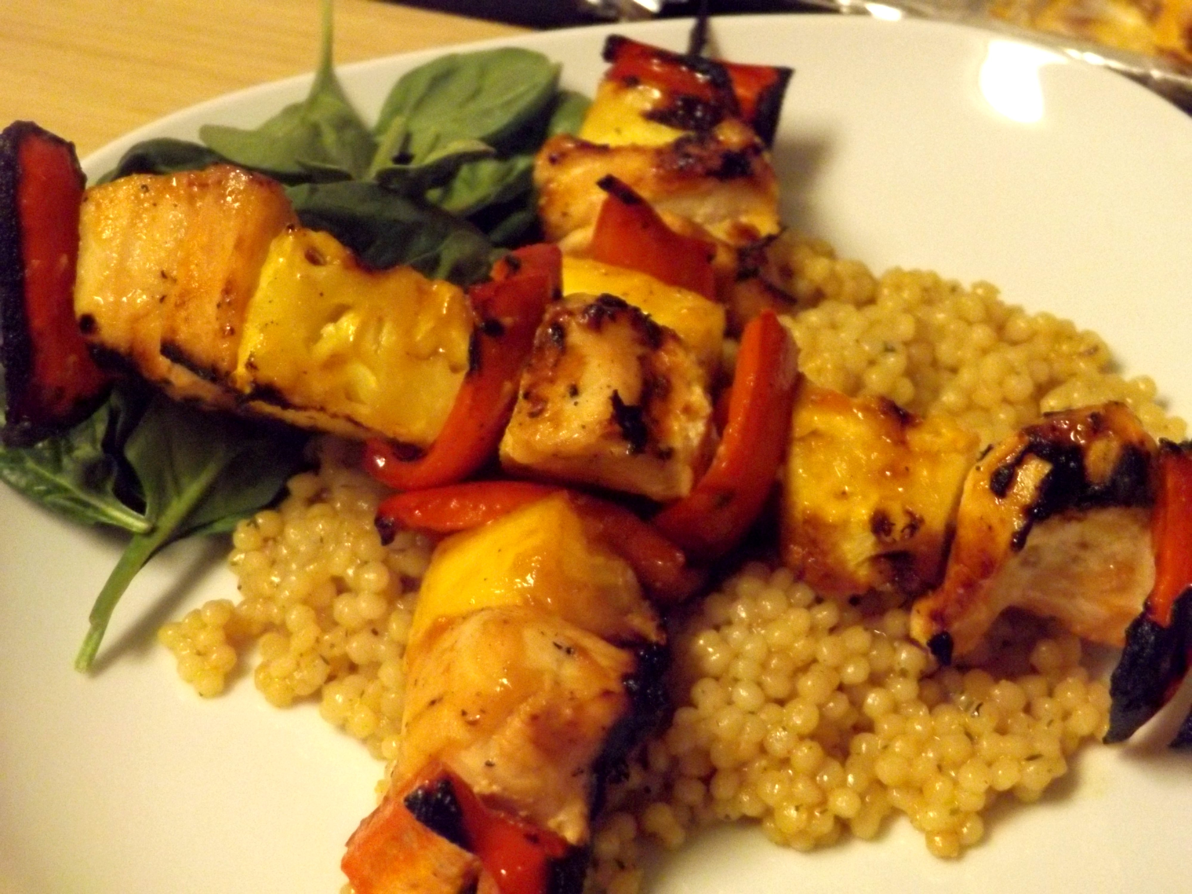 Hawaiian Chicken Kabobs with Spicy Apricot Glaze – The ...