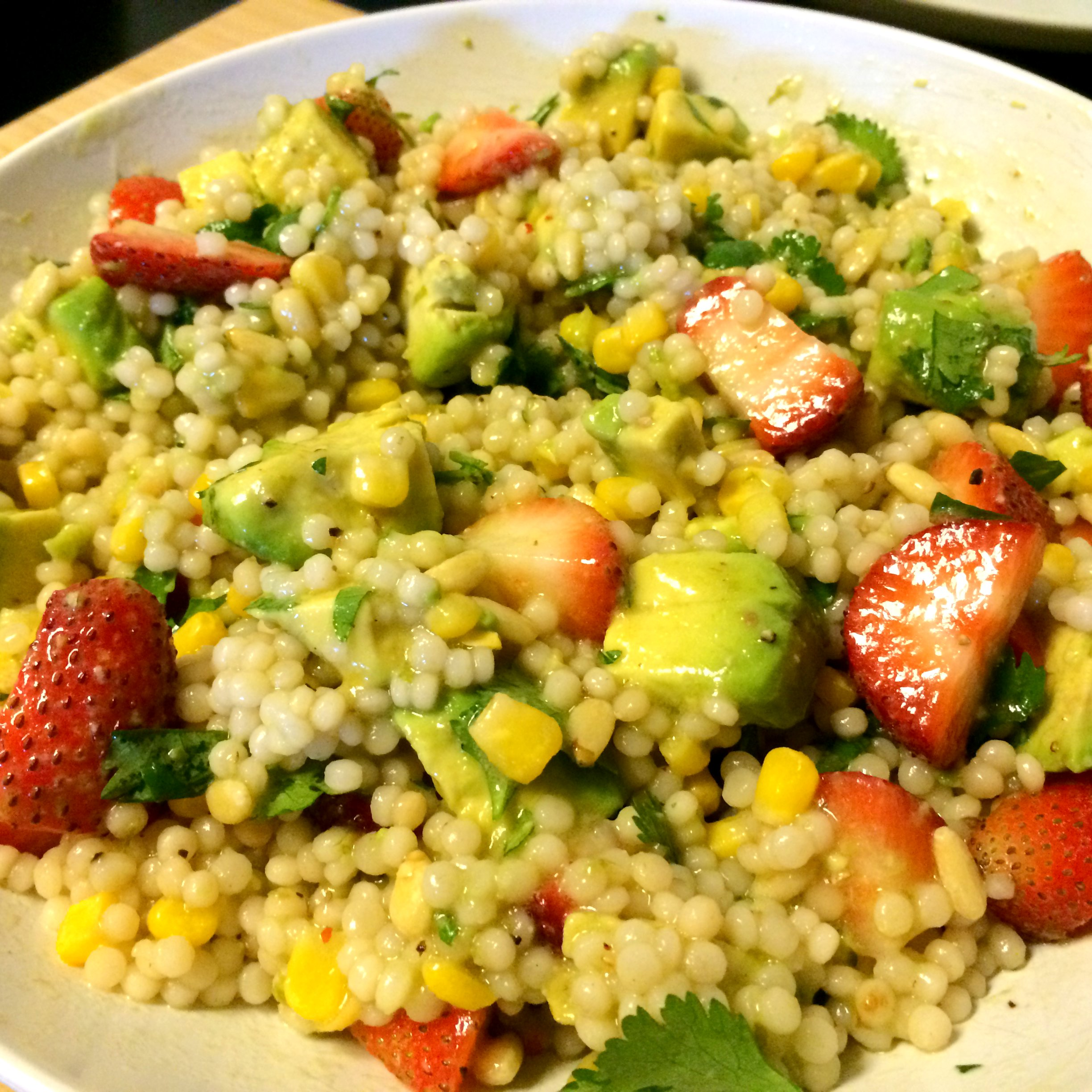 Berry and Avocado Couscous with Lime Vinaigrette