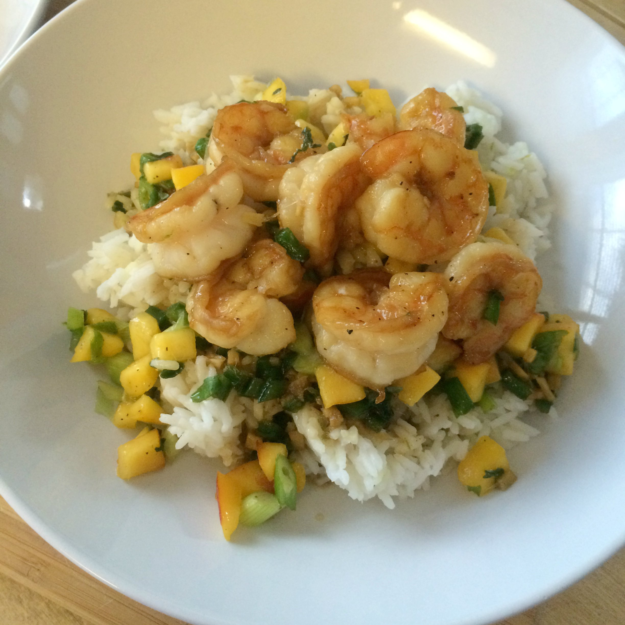Sweet and Spicy Coconut Shrimp with Mango Basil Salsa and ...