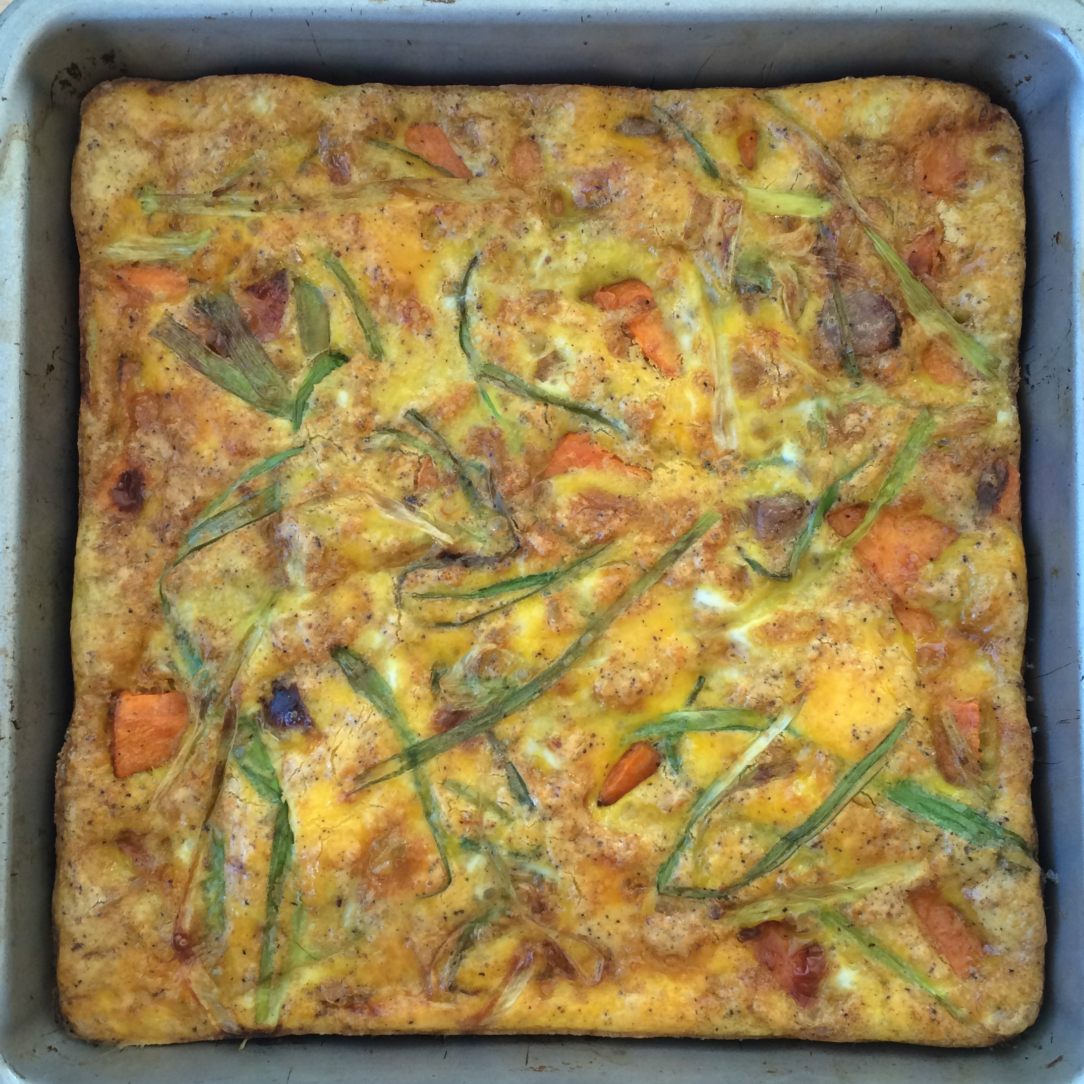 Sweet Potato and Sausage Breakfast Quiche