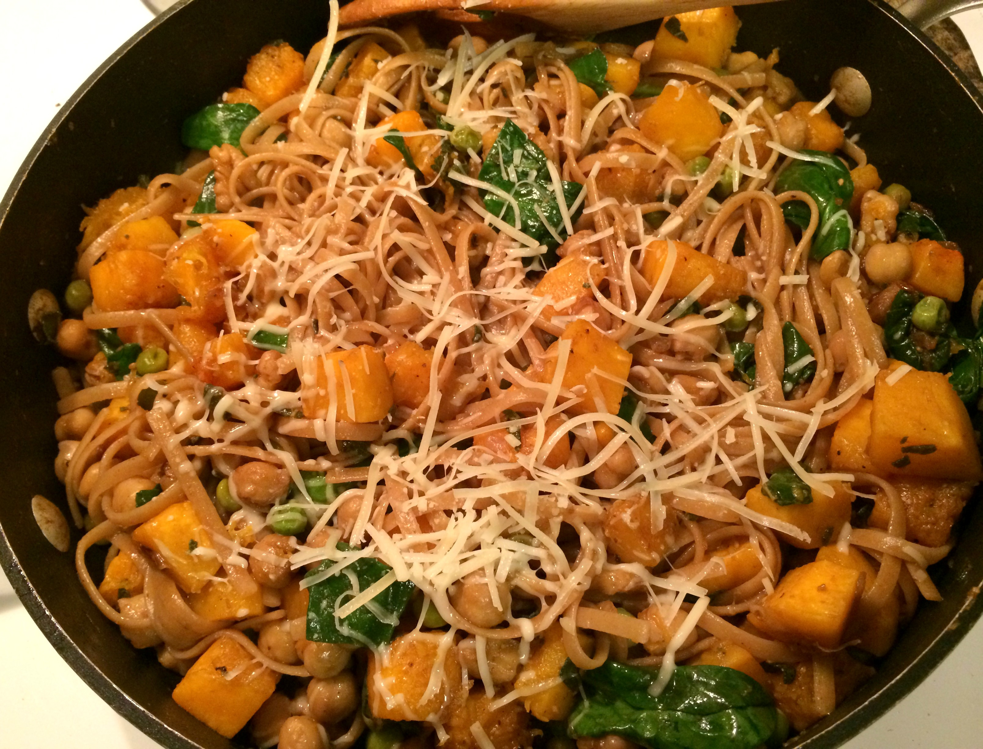 Butternut Squash Pasta with Walnuts and Sage