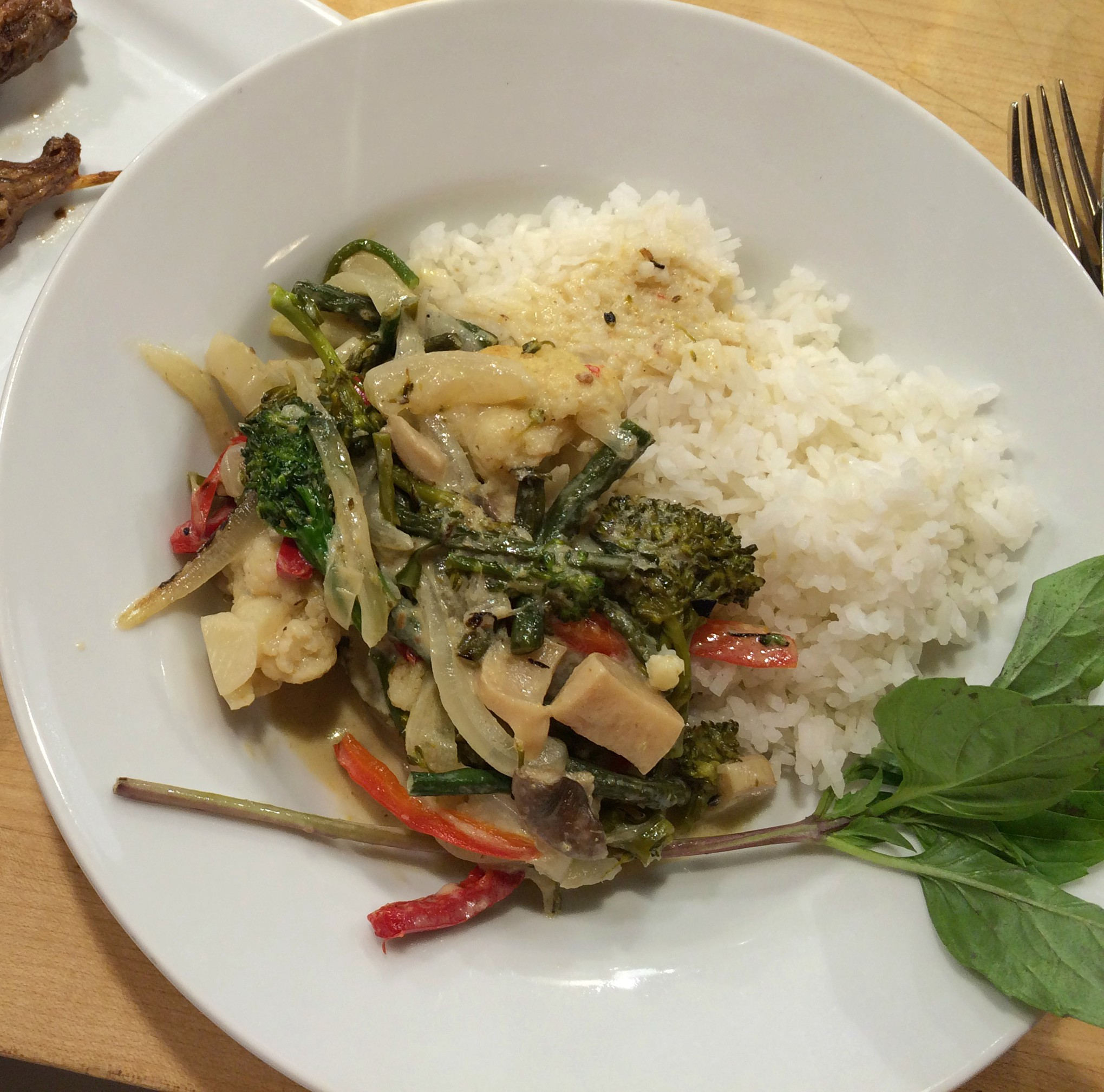 Vegetables with Coconut Curry and Jasmine Rice