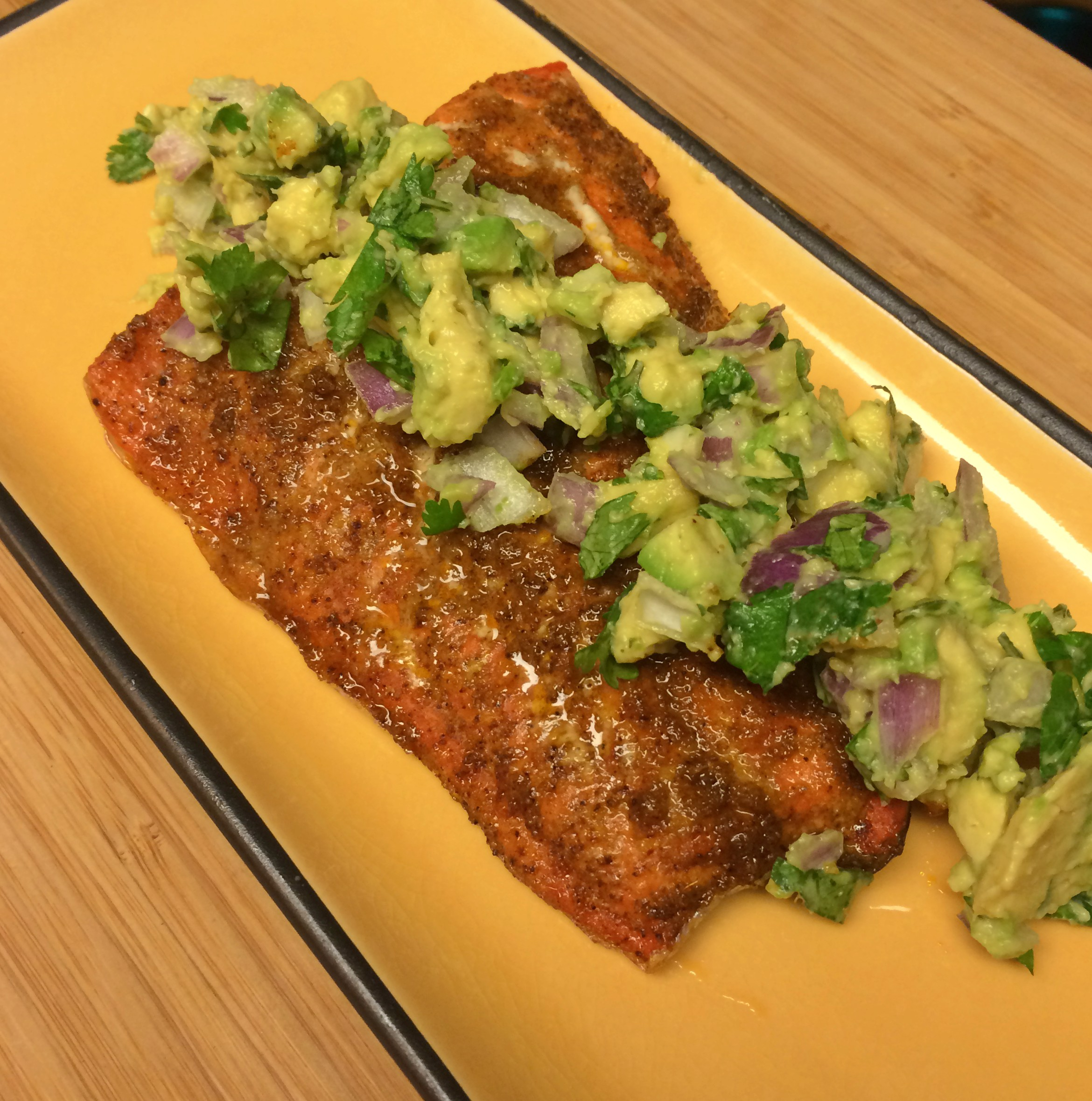 Chili Paprika Salmon with Mango Avocado Salsa