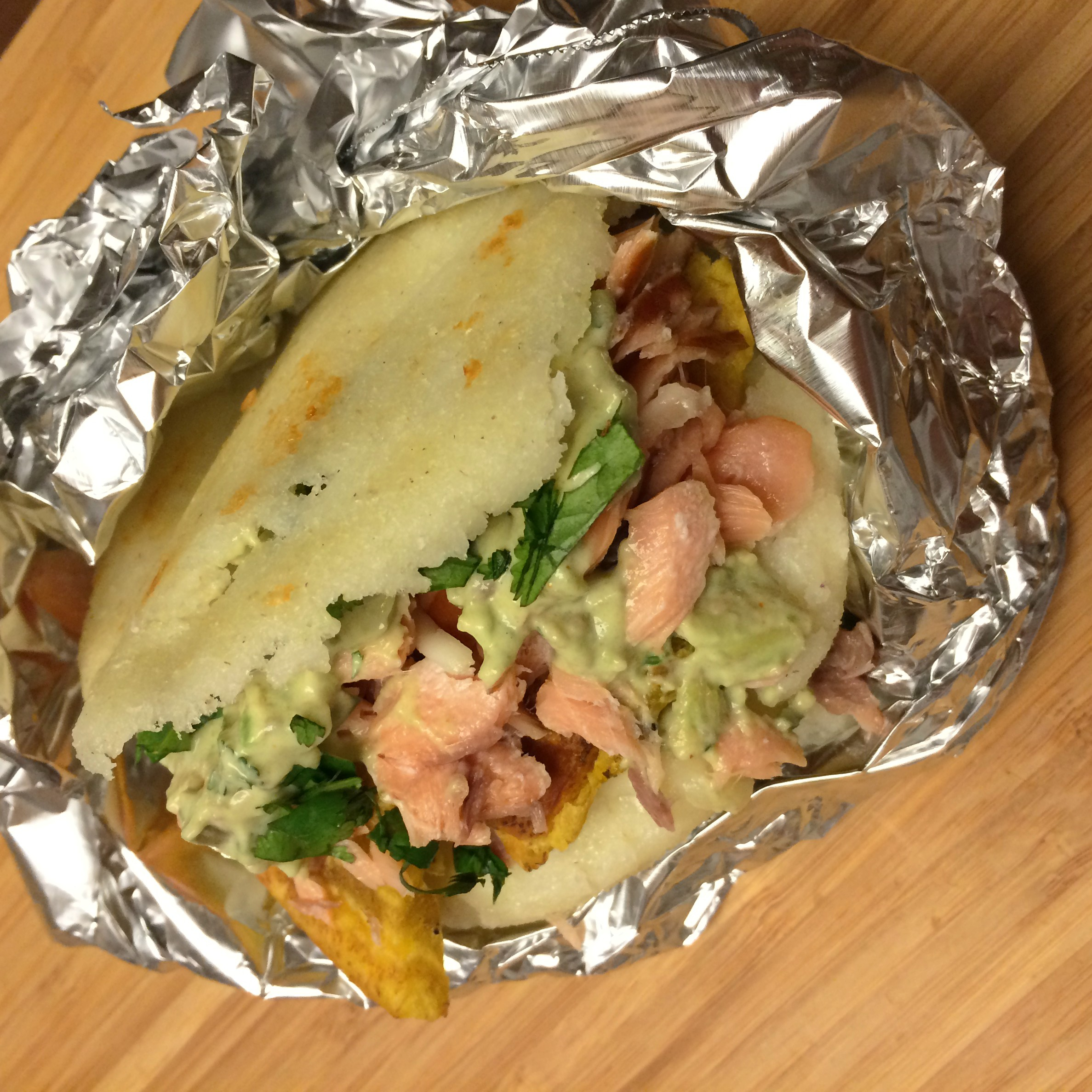 Arepas with Smoked Salmon and Avocado – The Sisters Kitchen