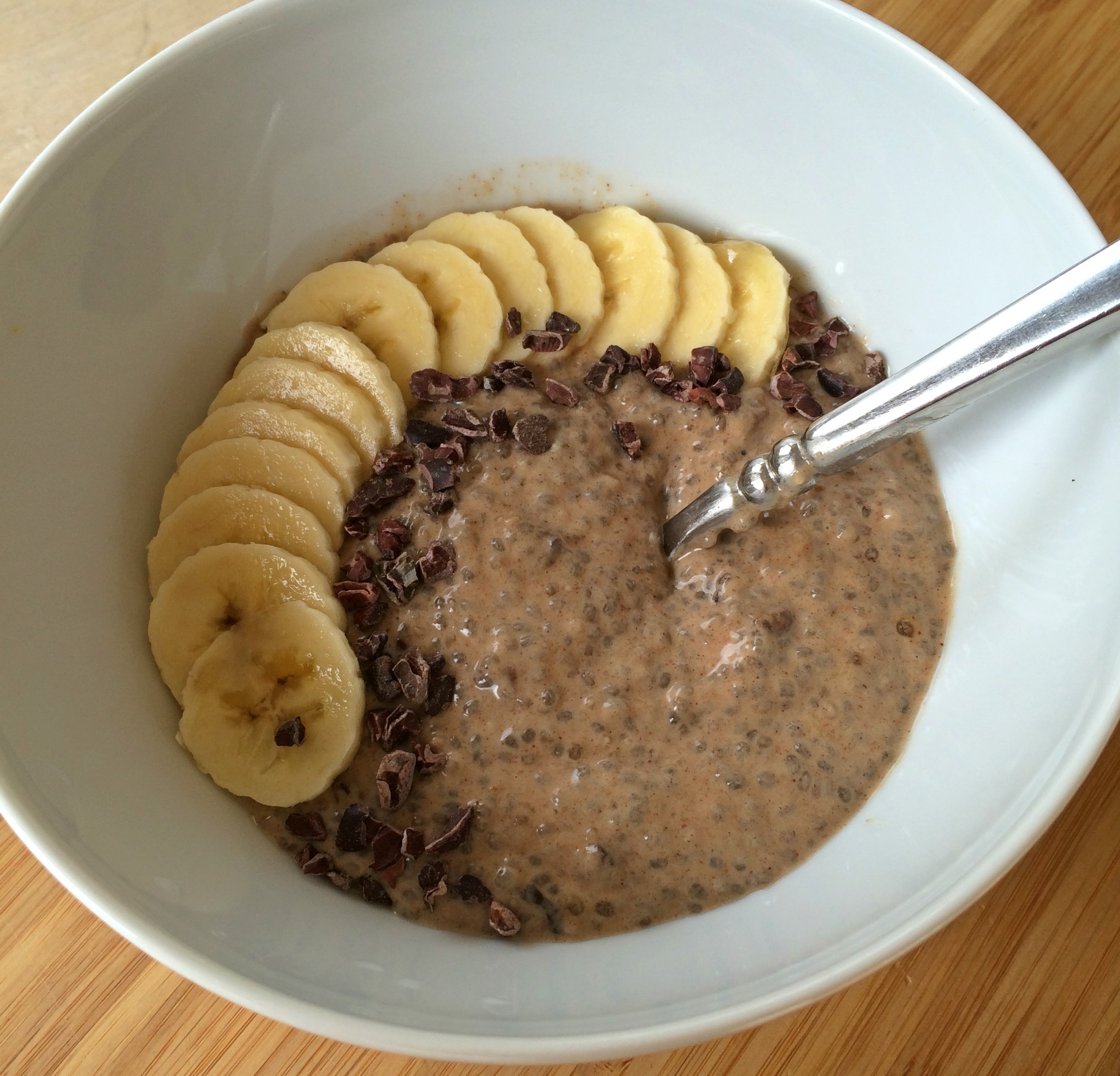 Banana Almond Butter Chia Pudding