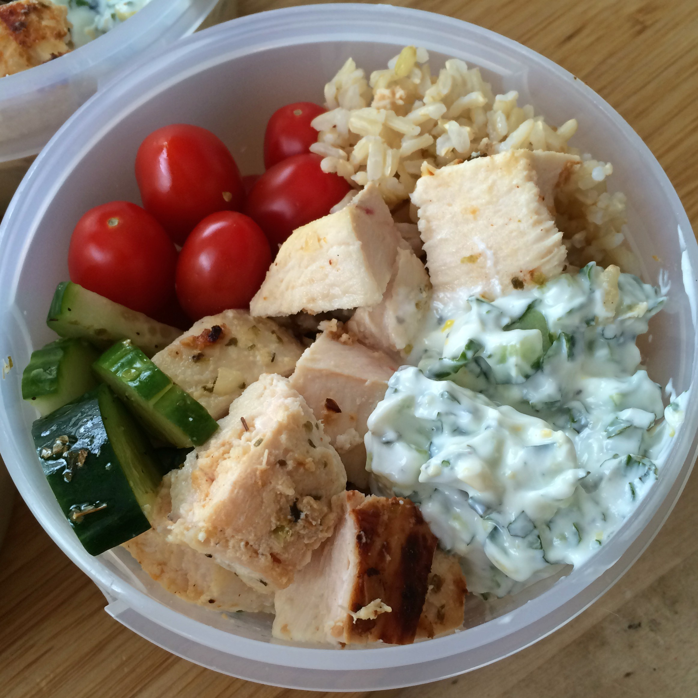 Greek Chicken Lunch Bowls