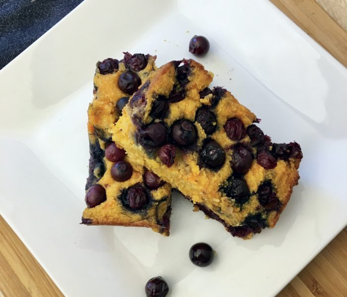 Blueberry Sweet Potato Breakfast Bars